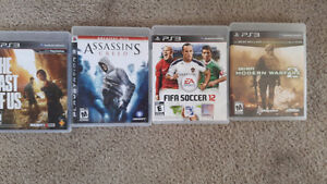 PS3 & PS4 games - $10 each