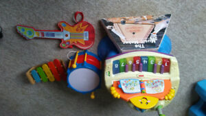 Set of children's musical instruments $15