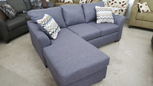 Grey Sofa With Reversible Chaise - Delivery Available