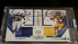 ERIC DICKERSON Jersey Autograph #'d /33 Colts & Rams 2016 HONORS
