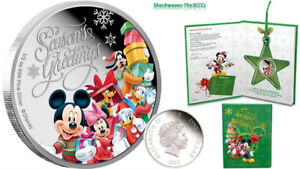 Disney $1 Dollar 1/2 oz Silver Proof Coin 2015 Season's Greeting