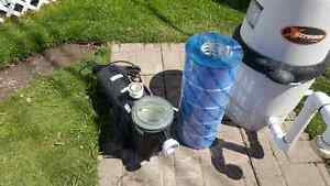 Pump and filter for above ground pool