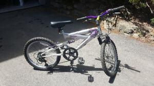 """Girls 20"""" dual suspension bicycle"""