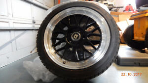 Studded Winter Tires with Drag Rims