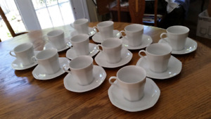 White cups & saucers