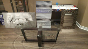 Pictures/ Mirror and Table for sale