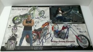 ORANGE COUNTY CHOPPERS SIGNED ITEM