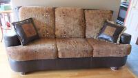 Couch with matching arm chair