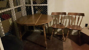Dining table and 4 chairs - $150.00 OBO