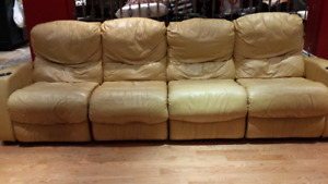 All Reclining Chesterfield Shoppe Leather Sofa