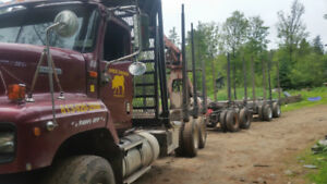 Self loader Log truck and quad trailer forsale 85000