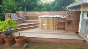 Cedar Hot Tub For Sale, Brand NEW, 6-10 person indoor or outdoor
