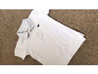 Boys Armani white polo shirt age 2 years
