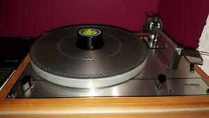 Thorens TD165, cartouche Ortofon OM 5E et préampli phono CAudio