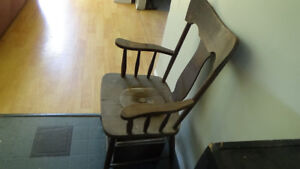 Antique toilet seat chair