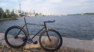 Fuji classic fixed gear bicycle with many upg