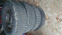 4 winter tires on rims175/70R13 $40 each OBO