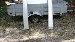 Utility Trailer with ramps