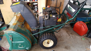 Moving sale: for sale 1 gas powered snow blower