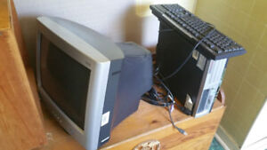 Compaq Desktop computer + monitor + KB & mouse + wires
