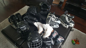 Hockey and karate equipment for sale asap