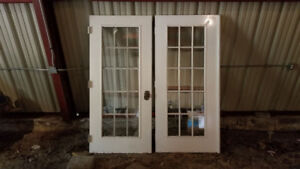 Vintage double exterior French Doors