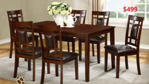 7 PC DINING SET 499 ONLY