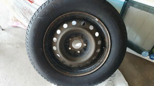 215 65 16 Winter Tires(5) and Rims (4)