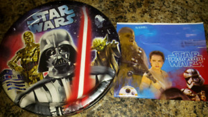 Star wars paper party plates