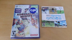 Xbox kenect game and wii game