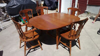 Maple drop leaf Dining Table & Chairs