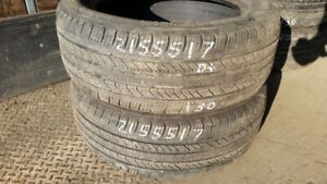 Pair of 2 Michelin Primacy MXV4 215/55R17 tires (55% tread life)