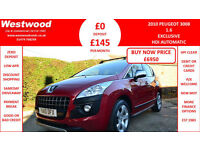 Peugeot 3008 Crossover 1.6HDi ( 110bhp ) FAP EGC Exclusive