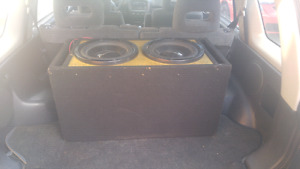 """12"""" subs in ported box"""