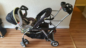 Sit and stand baby trend stroller and car seat