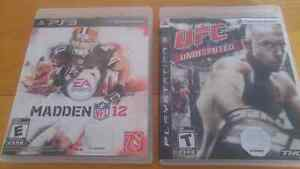 2 JEUX  PS3 MADDEN 12 & UFC UNDISPUTED