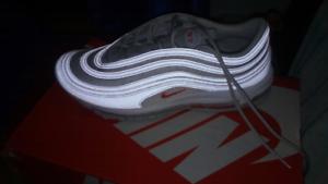 Nike Air Max 97 Platinum/Org sz 11.5 New $200 firm.