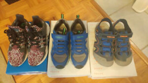Adidas and Geox shoes for boys, size US 4