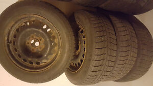 215/60 R16 Michelin Winter Tires and Rims+2 Extra Tires London Ontario image 1