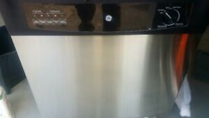 GE dishwasher. Stainless steel front.