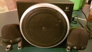 Logitech Computer Speakers and Subwoofer