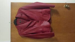 Red Danier leather jacket