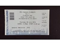 MTV Crashes Plymouth, Day 1 Ticket