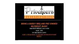 BRING A BUDDY BBQ AND PRE-OWNED BLOWOUT BASH! THIS SATURDAY