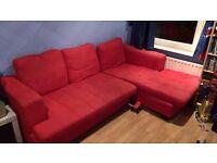 Red corner sofa (free)