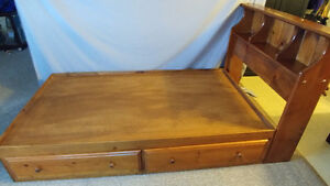 Solid Wood Captain Bed