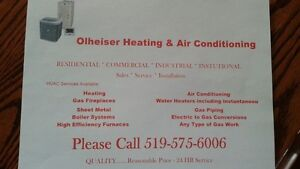 Heating & Air Conditioning Services Available Kitchener / Waterloo Kitchener Area image 1