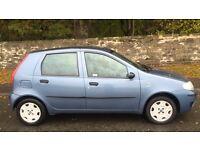 FIAT PUNTO 5 DOOR 1.1L (2004) long mot good car
