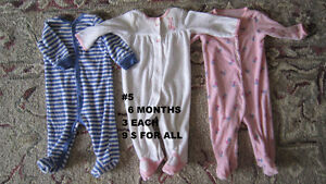 Baby girl clothes 0 to 3 months. Sleepers. London Ontario image 3