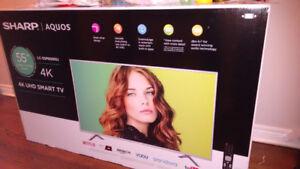"Brand new 55"" sharp Aquos 4k uhd smart tv"